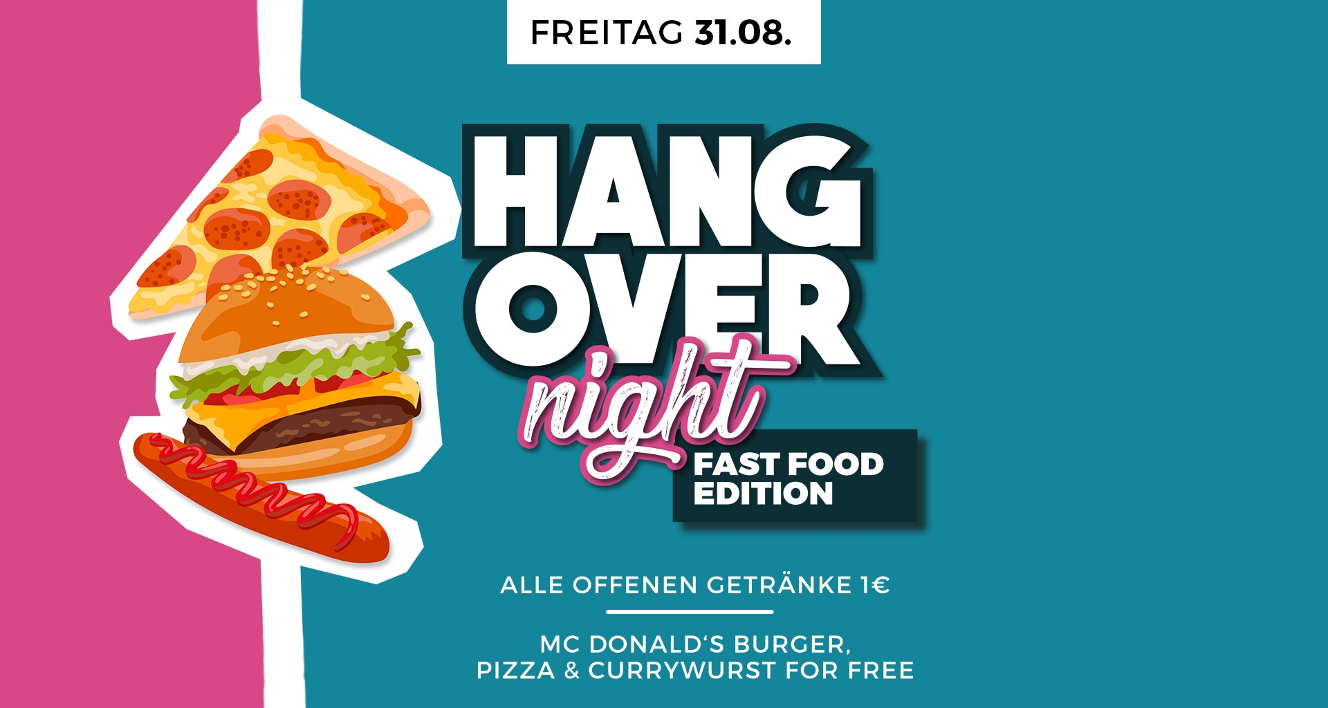 Discotheque INDEX Schuettorf : HANGOVER NIGHT - FAST FOOD EDITION